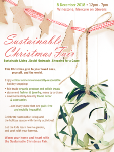 Sustainable Christmas Fair - 8th December at Winestone, Mercure on Stevens. 12 to 7pm.