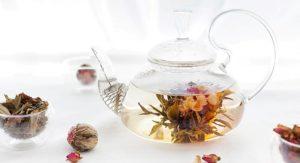 Flower tea in teapot