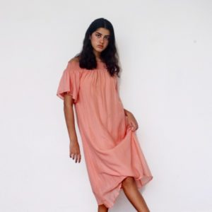 Cotton House Fae Sundress Coral Pink