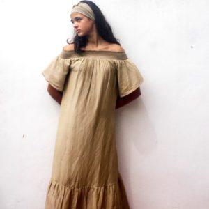 Cotton House Felice Maxi Dress Ash