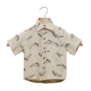Hopping Rabbit Organic Cotton Boy Shirt