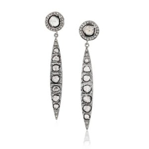 Long Spike Uncut Fancy Diamonds Anna Dangler Earrings