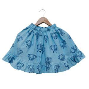 Rain Filled Clouds Organic Cotton Skirt