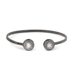 Round Uncut Fancy Diamonds Anna Open Bracelet