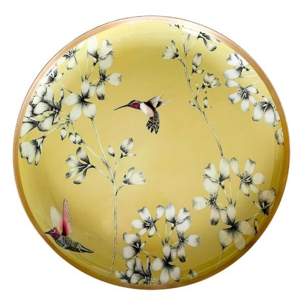 Meraki Lily Spring Yellow Round Tray