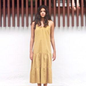 Cotton House Skye Midi Dress Khaki