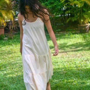 Cotton House Skye Midi Dress Vanilla