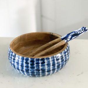 Meraki Lily Tie Dye Salad Bowl