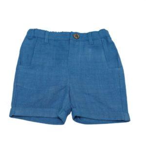 Unisex Organic Cotton Blue Shorts