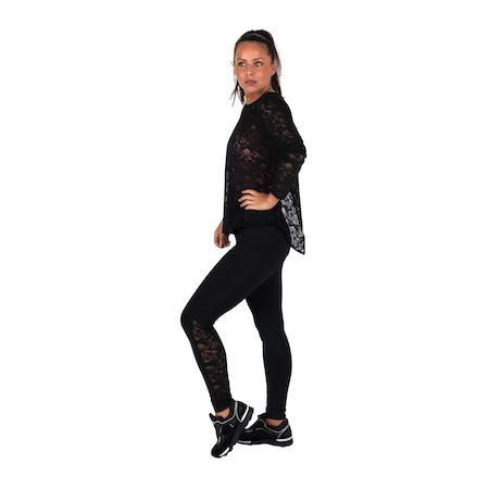 Dreesy Long Sleeve Lace Top with Leggings