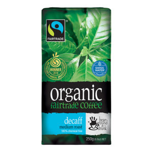 Bean Ground & Drunk Organic Swiss Water Decaff Fairtrade Ground Coffee 250g