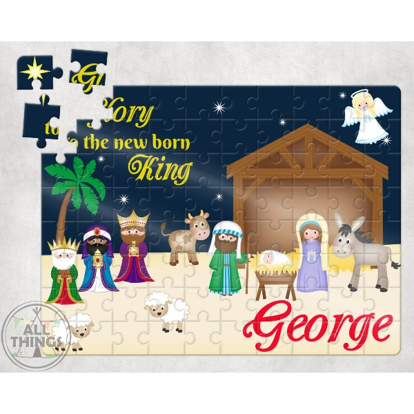 ALl Things Nativity Personalized Puzzle