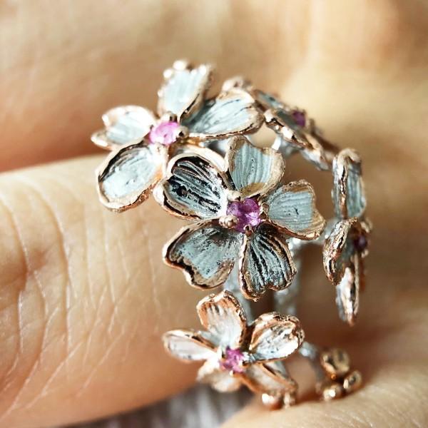 Salalo Amot Pink Bouquet Ring