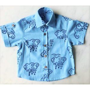 Rain Filled Clouds Organic Cotton Boy Shirt