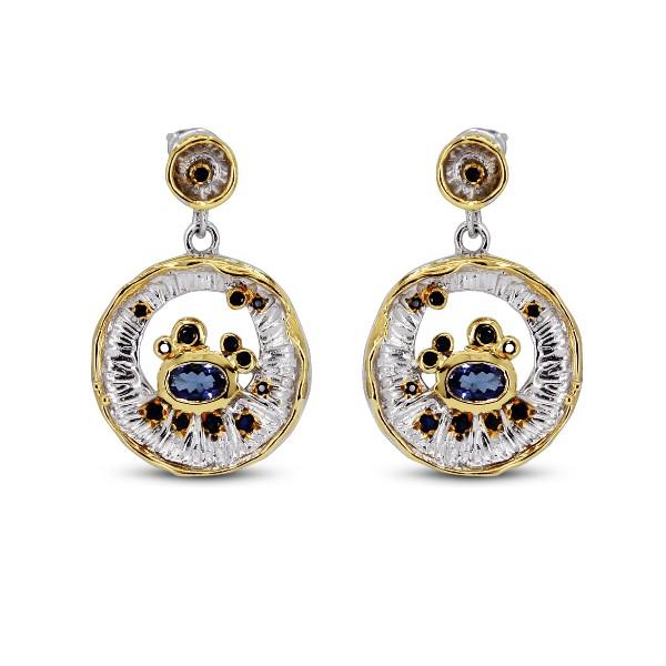 Salalo Amot Sapphire Tanzanite Earrings
