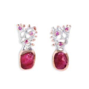 Salalo Amot Teia Ruby and Sapphire Earrings